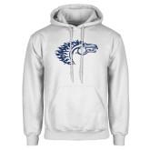 White Fleece Hoodie-Horse Head
