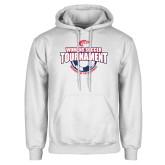 White Fleece Hoodie-Womens Soccer Tournament