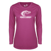 Ladies Syntrel Performance Raspberry Longsleeve Shirt-Primary Mark