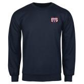 Navy Fleece Crew-SW