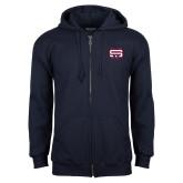 Navy Fleece Full Zip Hoodie-SW