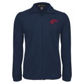 Fleece Full Zip Navy Jacket-Horse Head