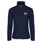 Columbia Ladies Full Zip Navy Fleece Jacket-SW