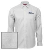 Red House White Diamond Dobby Long Sleeve Shirt-Mustangs Flat