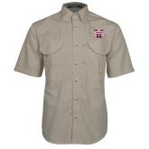 Khaki Short Sleeve Performance Fishing Shirt-SW