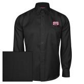 Red House Black Herringbone Long Sleeve Shirt-SW