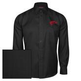 Red House Black Herringbone Long Sleeve Shirt-Horse Head