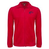 Fleece Full Zip Red Jacket-Horse Head