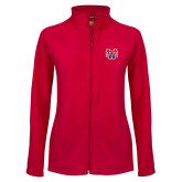 Ladies Fleece Full Zip Red Jacket-SW