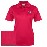 Ladies Red Dry Mesh Polo-SW