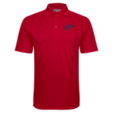 Red Textured Saddle Shoulder Polo-Horse Head