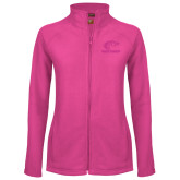 Ladies Fleece Full Zip Raspberry Jacket-Primary Mark