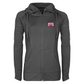 Ladies Sport Wick Stretch Full Zip Charcoal Jacket-SW