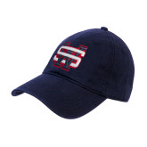 Navy Twill Unstructured Low Profile Hat-SW