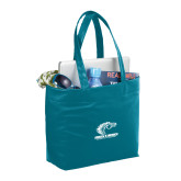 Fine Society Teal Computer Tote-Primary Mark