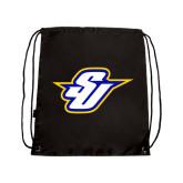 Black Drawstring Backpack-Primary Mark
