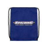 Royal Drawstring Backpack-Word Mark