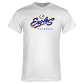 White T Shirt-Eagles Baseball