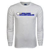 White Long Sleeve T Shirt-Spalding Golden Eagles
