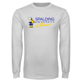 White Long Sleeve T Shirt-Spalding University Alumni