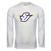 Syntrel Performance White Longsleeve Shirt-Primary Mark