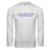Syntrel Performance White Longsleeve Shirt-Word Mark