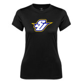 Ladies Syntrel Performance Black Tee-Primary Mark