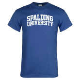 Royal Blue T Shirt-Spalding University Arched