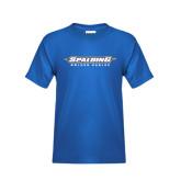 Youth Royal T Shirt-Word Mark