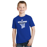Youth Royal Blue T Shirt-Basketball