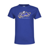 Youth Royal T Shirt-Eagles Baseball