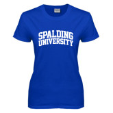 Ladies Royal T Shirt-Spalding University Arched