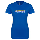 Next Level Ladies SoftStyle Junior Fitted Royal Tee-Word Mark