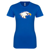 Next Level Ladies SoftStyle Junior Fitted Royal Tee-Eagle Head