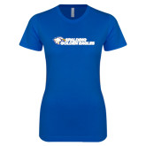 Next Level Ladies SoftStyle Junior Fitted Royal Tee-Spalding Golden Eagles