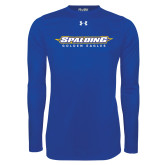 Under Armour Royal Long Sleeve Tech Tee-Word Mark