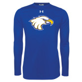 Under Armour Royal Long Sleeve Tech Tee-Eagle Head