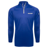 Under Armour Royal Tech 1/4 Zip Performance Shirt-Word Mark