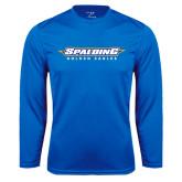 Syntrel Performance Royal Longsleeve Shirt-Word Mark