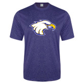 Performance Royal Heather Contender Tee-Eagle Head