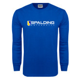 Royal Long Sleeve T Shirt-Spalding University