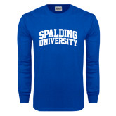 Royal Long Sleeve T Shirt-Spalding University Arched