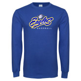 University Royal Long Sleeve T Shirt-Eagles Baseball
