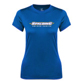 Ladies Syntrel Performance Royal Tee-Word Mark