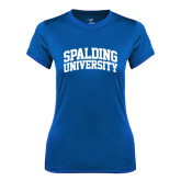 Ladies Syntrel Performance Royal Tee-Spalding University Arched