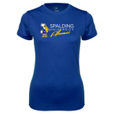 Ladies Syntrel Performance Royal Tee-Spalding University Alumni