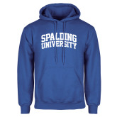 Royal Fleece Hoodie-Spalding University Arched