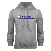 Grey Fleece Hood-Spalding Golden Eagles