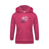 Youth Raspberry Fleece Hood-Primary Mark