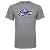 Grey T Shirt-Eagles Baseball